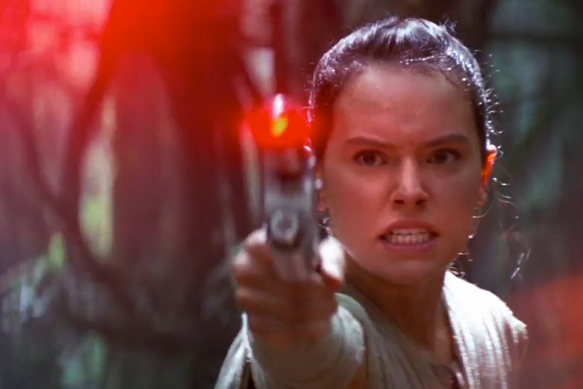 """Daisy Ridley as Rey in """"Star Wars: The Force Awakens."""""""