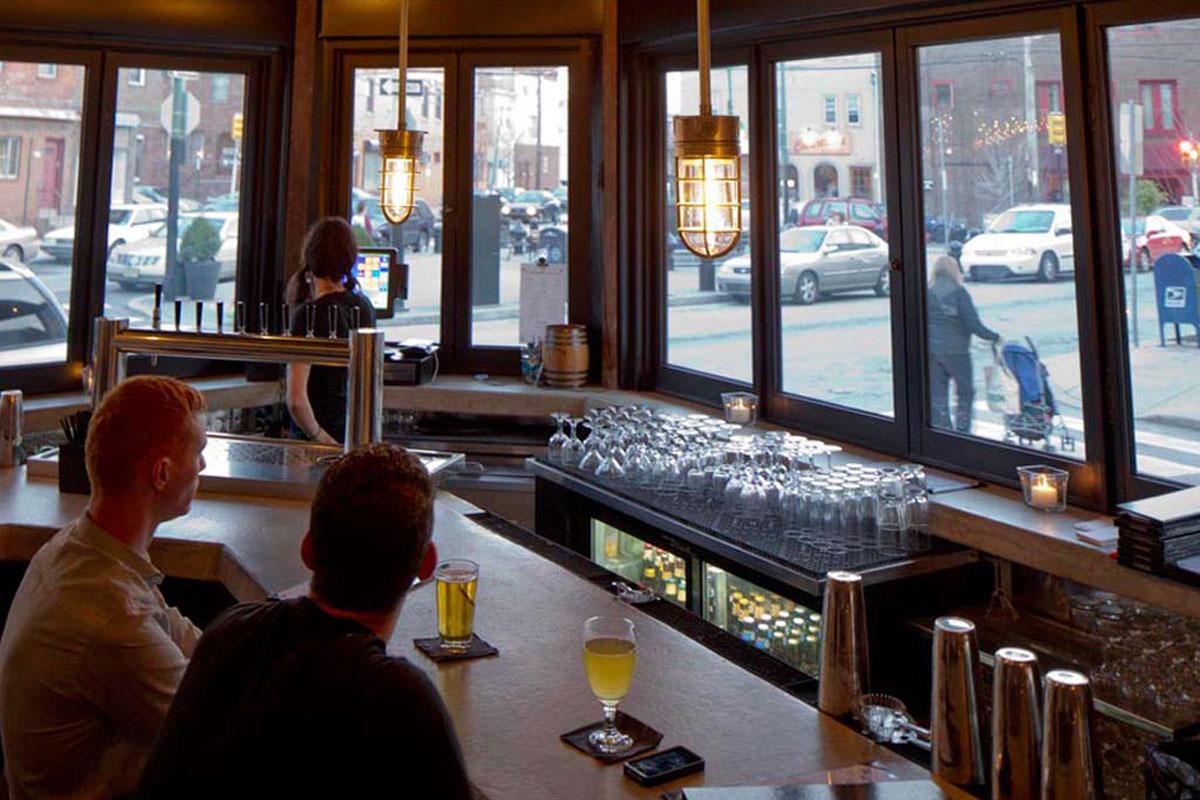 Bar area of Stateside, facing East Passyunk Avenue.