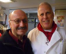 Joe DiAmore and Ben Blumberg in Steak 38´s kitchen.