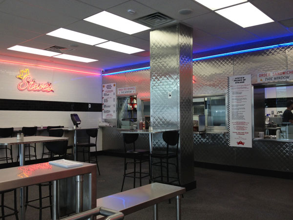 Steve´s Prince of Steaks at 16th and Chestnut Streets.