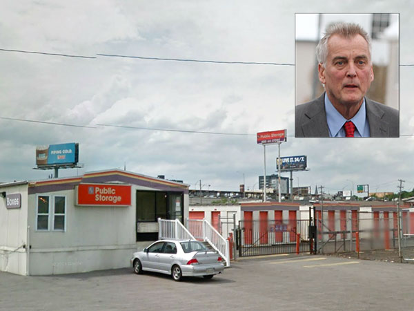 Sports television anchor Don Tollefson´s storage units at Public Storage on North Columbus Boulevard will go up for auction on Monday. (image via google maps, staff)