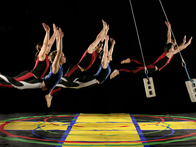 "The floor is not enough: STREB, Elizabeth Streb´s flying dance company, visits in February with the current show ""Brave."""