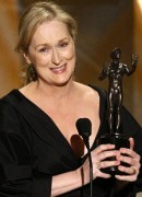 "NO DOUBT: Meryl Streep honors her sister nominees while accepting her Screen Actors Guild statuette for ""Doubt."""