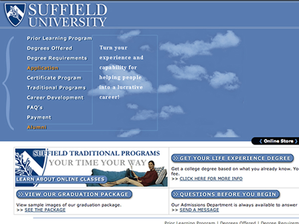 Prosecutors said Suffield University was one so-called school that served as a front for 48-year-old James Enowitch´s admitted diploma mill.