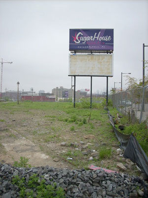 SugarHouse is building a casino on this lot at Delaware Avenue and Shackamaxon Street.