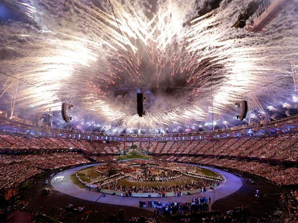 In this Friday, July 27, 2012, file photo, fireworks explode during the Opening Ceremony at the 2012 Summer Olympics, in London. Philadelphia will not pursue a bid for the 2024 Summer Olympics, Mayor Michael Nutter announced on Wednesday. (AP Photo)