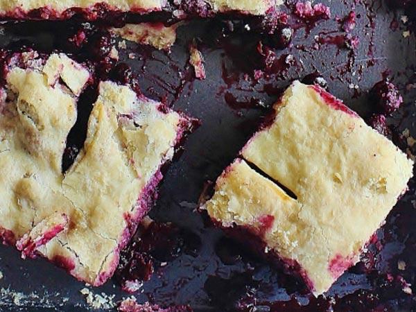 Blueberry slab pie. (Parade)