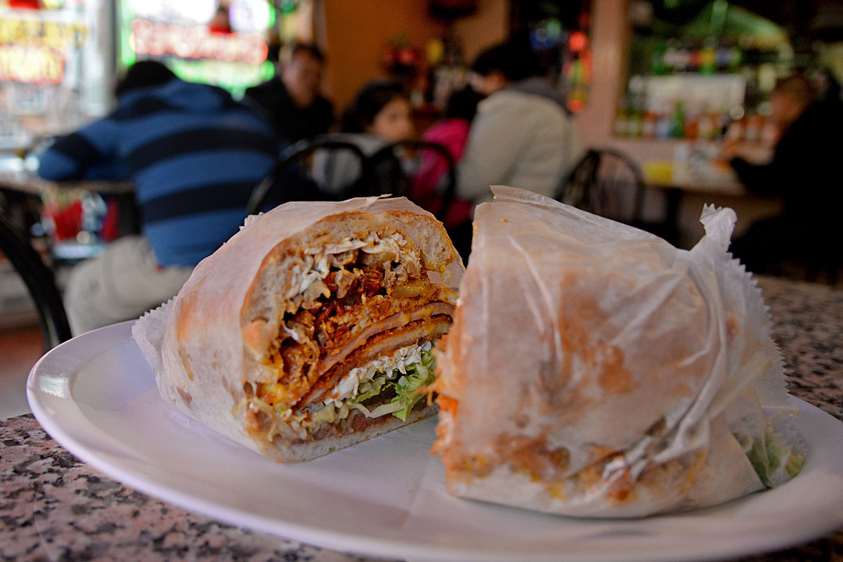Appointment sandwiches - the kind that are so big, so awesome, that you have to make a plan to eat them. Like the Super Torta at El Jarocho.