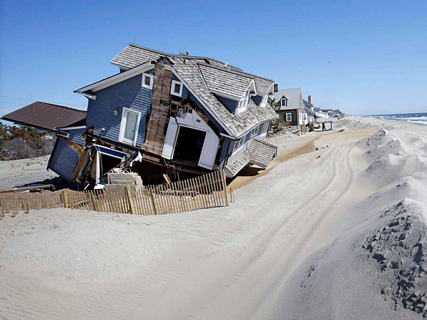 A house in Mantoloking, N.J., severely damaged by Hurricane Sandy. Each of the town´s 521 houses was destroyed or damaged in the storm. MEL EVANS / AP