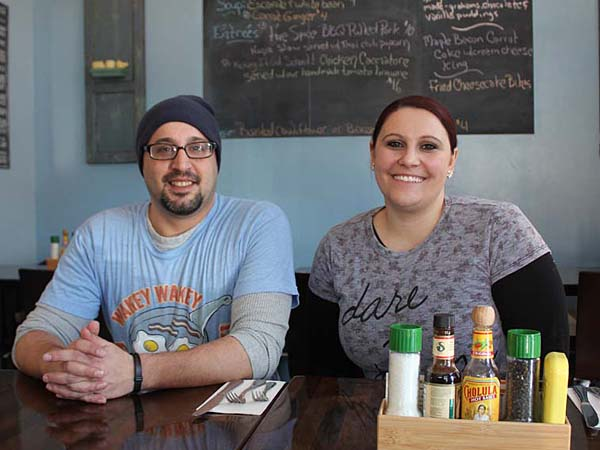 Chefs/owners Angelo Polito and Georgeann Leaming at Suppa, 1040 N. American St.