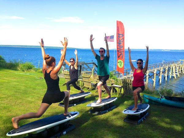 Try Surfset, a fitness class that blends aerobics, strength training and balance. (Photo via Facebook)