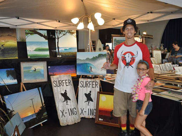Purchase art inspired by the ocean during The Art Of Surfing Festival beginning on August 1. (Photo via Facebook)