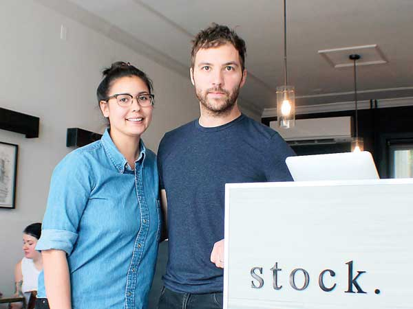 Nicole Reigle and chef Tyler Akin at Stock, their new restaurant in Fishtown.  (MICHAEL KLEIN / Philly.com )