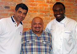Munish Narula (left) with Sanjay Shende and Sylva Senat.