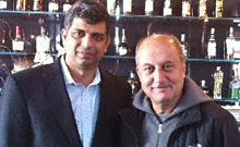 Owner Munish Narula (left) with Anupam Kher.