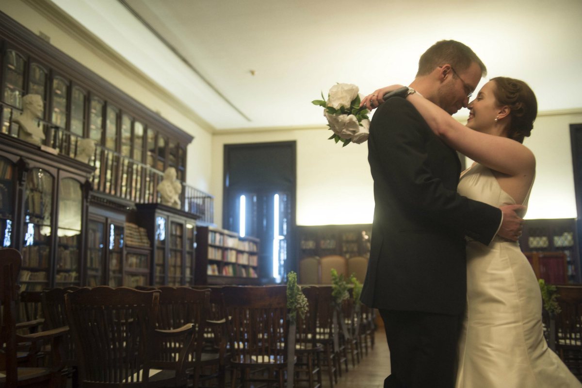 Craig Getting &amp; Laura Van Tassell&acute;s wedding at the German Society of<br />Pennsylvania.