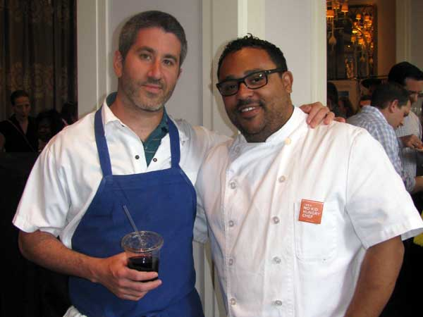 Michael Solomonov (left) and Kevin Sbraga at the 2013 Taste of the Nation.