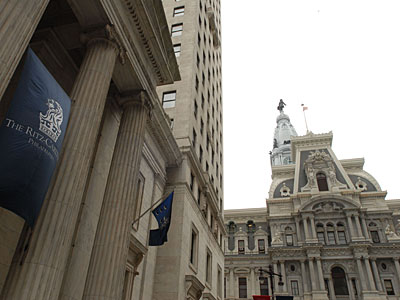The Ritz-Carlton Hotel (left), at Broad and Chestnut Streets, got a $400,000-a-year tax break after a private meeting with Board of Revision of Taxes chairman David B. Glancey in 2003. In hundreds of meetings during 19 years as chairman, Glancey cut millions from building values.