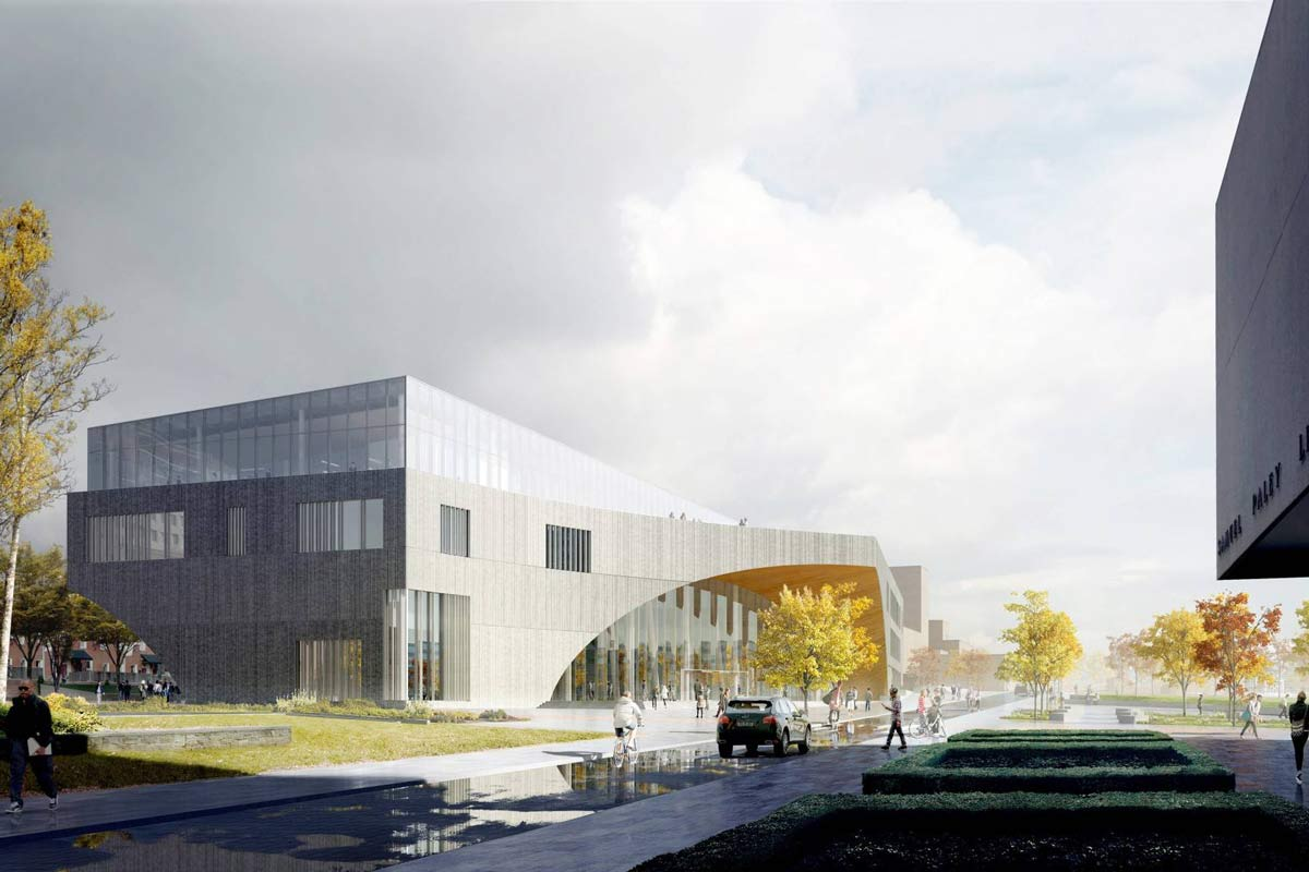 renderings of temple u0026 39 s new library released
