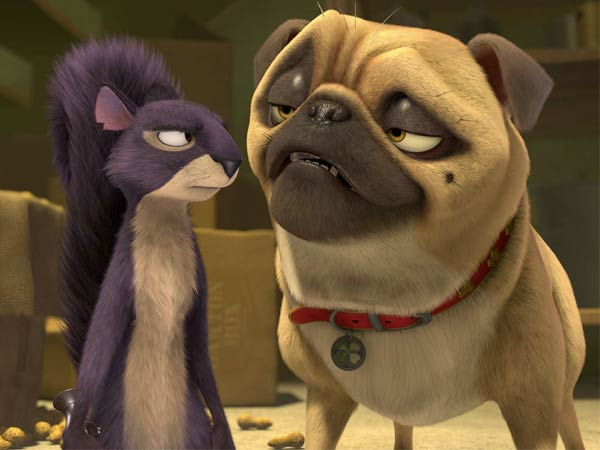 Surly and Precious , voiced by Will Arnett and Maya Rudolph, in ´The Nut Job.´