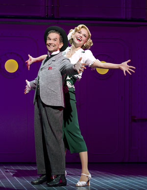 "Joel Grey, left, and Sutton Foster in ""Anything Goes."" (AP Photo/Boneau/Bryan-Brown, Joan Marcus)"