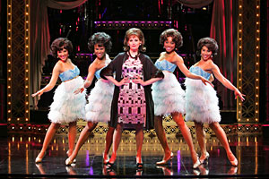 "Beth Leavel, center, performs with the ensemble in ""Baby It´s You."" (AP Photo/The Hartman Group, Ari Mint)"