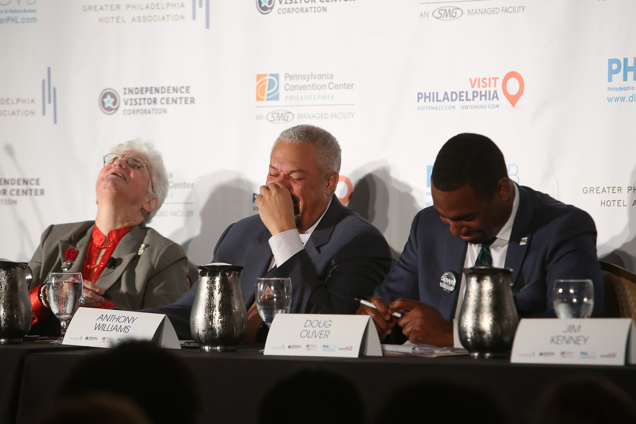 s next or anthony h williams and doug oliver laugh after nelson diaz responds to a question about marijuana decriminalization yes i want some at a forum on