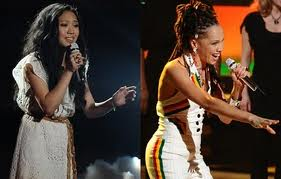 America has spoken. Thia Megia (left) and Naima Adedapo are no more.