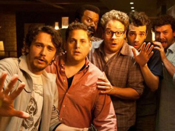 """This Is the End"" is the directorial debut of Seth Rogen and Evan Goldberg. In addition to those already listed, the movie stars Emma Watson, Paul Rudd, Mindy Kaling, Christopher Mintz-Plasse, Martin Starr, Kevin Hart and David Krumholtz."