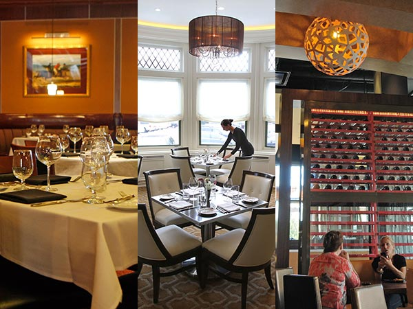 (Left to right) William Douglas Steak House, Paramour, and Catelli Duo will all be open on Thanksgiving. (Staff photos)
