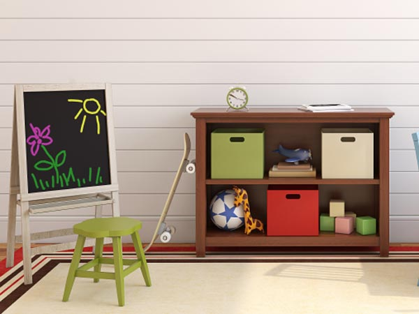 A neat and tidy child´s playroom.