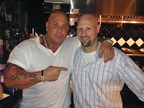 TJ with Steve Martorano of Martorano´s Cafe in Ft. Lauderdale.
