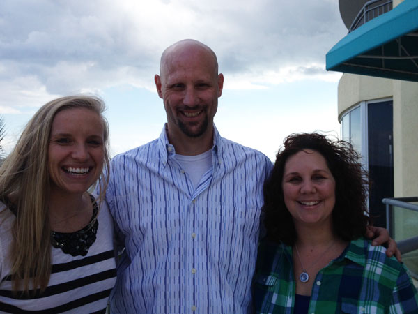 TJ with Shelby Moneer, Program Manager from the MRF and fellow melanoma patient Melissa Moore.