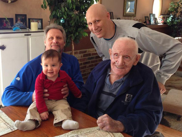 All four Thomas Sharpe´s: Tommy, TJ, his dad and his late grandfather.