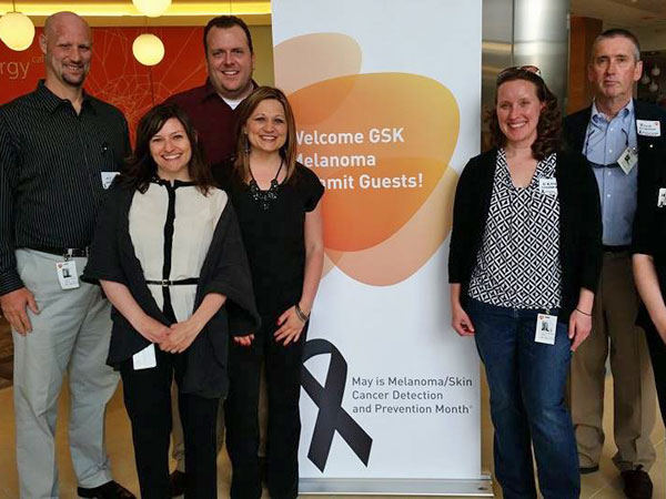 From left to right: TJ with Anna Padula of GSK, Steve and Jennifer Martin, Erin Youngerberg, and Rich McDonald (not pictured, Martha Bishop).