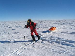 Todd Carmichael, during his first trek to Antarctica in December 2004.