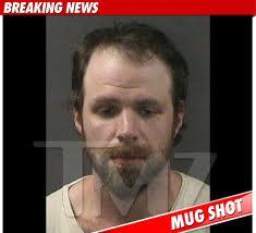 The mug shot for rocker Michael Todd