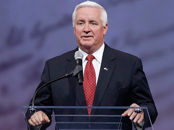 Pennsylvania Gov. Tom Corbett is kicking off a multi-day, cross-state event tour today to raise his profile with a year to go until election day. (AP file photo)