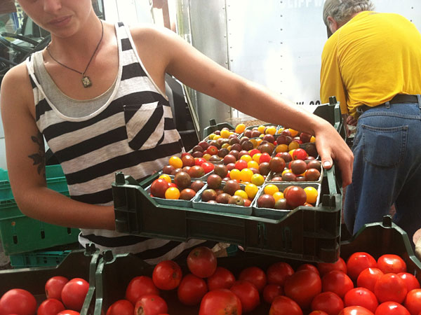 Tomatoes from Rittenhouse Square Farmer´s Market.