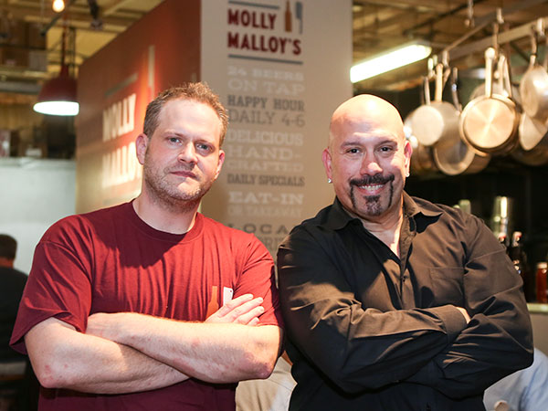 Bobby Fisher (left) and Tony Luke Jr. at Molly Malloy´s in Reading Terminal Market on Tuesday, June 3, 2014. (Stephanie Aaronson/Philly.com)