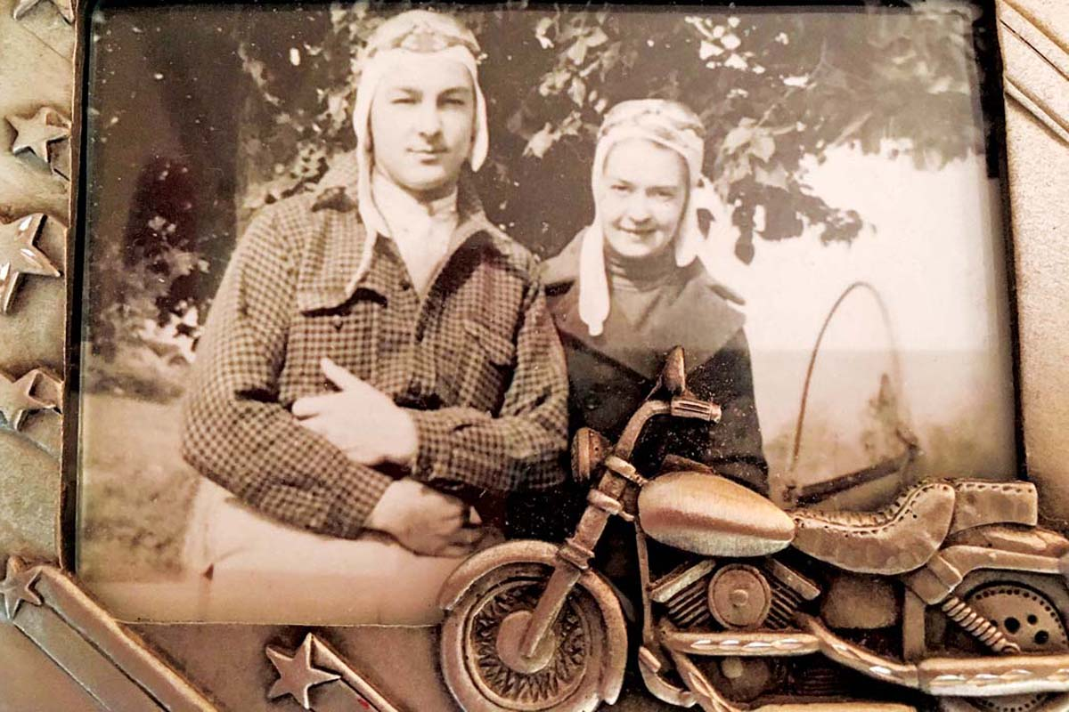 Stuart and Carolye Carpenter were adventurous right from the start — they dated on a motorcycle. KATHY MILLER