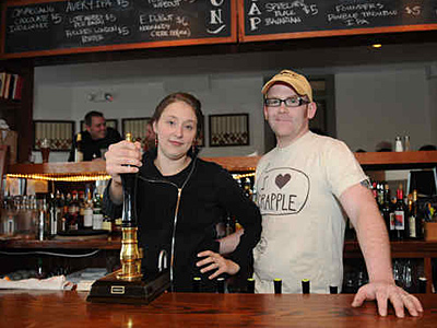 Leigh Maida and Brendan Hartranft, owners of three bars, including Resurrection Ale House, in Grays Ferry (below, left), and Local 44, in West Philly, call LCB raids &amp;quot;McCarthy-like.&amp;quot;