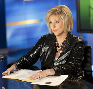 This May 21, 2009 photo released by CNN, shows host Nancy Grace in Atlanta. (AP Photo/CNN, Mark Hill)