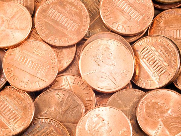 Saving the penny benefits zinc producers. (istock)