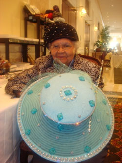 Elizabeth Wellington. Vanilla Beane, 89, pictured here with her swanky hat. The milliner is designing a hat for Dorothy Height to wear to her annual Uncommon Height event. This year Oprah is being honored.