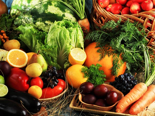 Collection of fruits and vegetables.