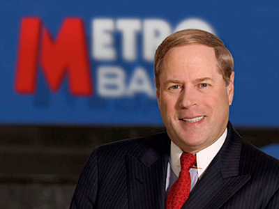 Vernon W. Hill II  at  his Metro Bank office in London.