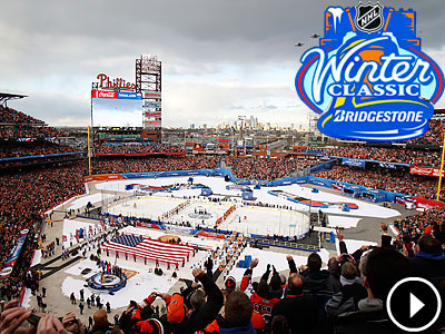 Over 45,000 fans filled Citizens Bank Park to wach the Winter Classic. (David Maialetti/Staff Photographer)