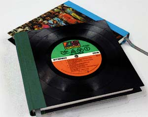 Vintage Vinyl Journals use actual vinyl records as covers.
