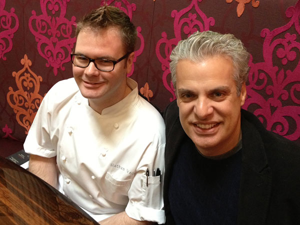 Chefs Nathan Volz and Eric Ripert at 10 Arts, Nov. 30, 2012.  MICHAEL KLEIN / Philly.com